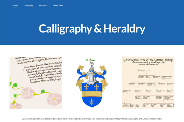 calligraphy and heraldry